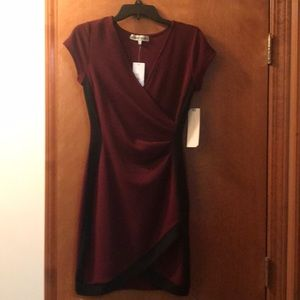 Almost Famous Maroon form fitted dress